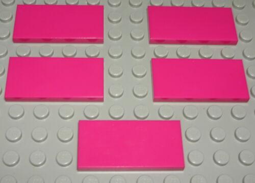 Kachel 2x4 Dunkelrosa 5 Stück Lego Fliese 2032