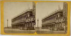 Stéréo, Italie, Venise, palais royal Vintage stereo card,  Tirage albuminé