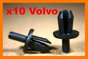 10 TOYOTA car plastic fastener rocker fascia trim panel door sill moulding clips