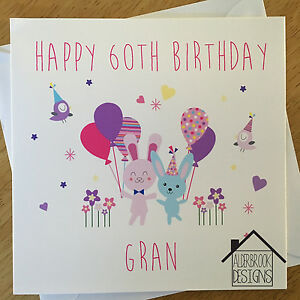 Personalised 60th birthday card mum nan gran grandma any agename image is loading personalised 60th birthday card mum nan gran grandma bookmarktalkfo Image collections
