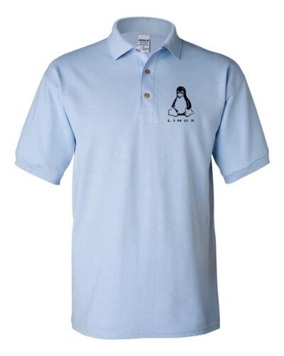 LINUX PENGUIN Logo Polo redhat-centos-ubuntu tee  Computer Geek T-shirts Hanes