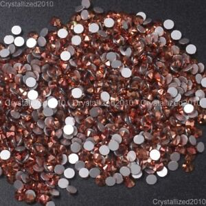 1440-Rose-Gold-Top-Quality-Czech-Crystal-Flatback-Rhinestone-Nail-Art-No-Hotfix