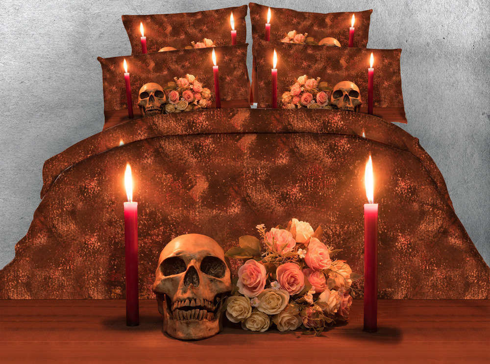Dim Pair Candles 3D Printing Duvet Quilt Doona Covers Pillow Case Bedding Sets