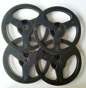 5-3-4-034-Black-Empty-Reel-Spool-for-Recording-Tape-For-music-lovers-4pcs