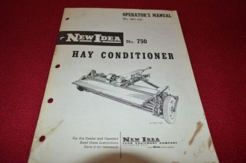 New Idea 750 Hay Conditioner Operator/'s Manual BVPA