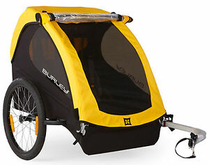 Burley-Bee-Compact-Fold-Bike-Bicycle-Trailer-Wagon-For-1-or-2-Kids-Child-Yellow