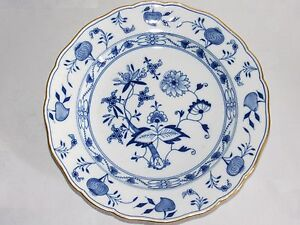 08d35 old porcelain plate meissen saxe xix e blue onion decor ebay. Black Bedroom Furniture Sets. Home Design Ideas