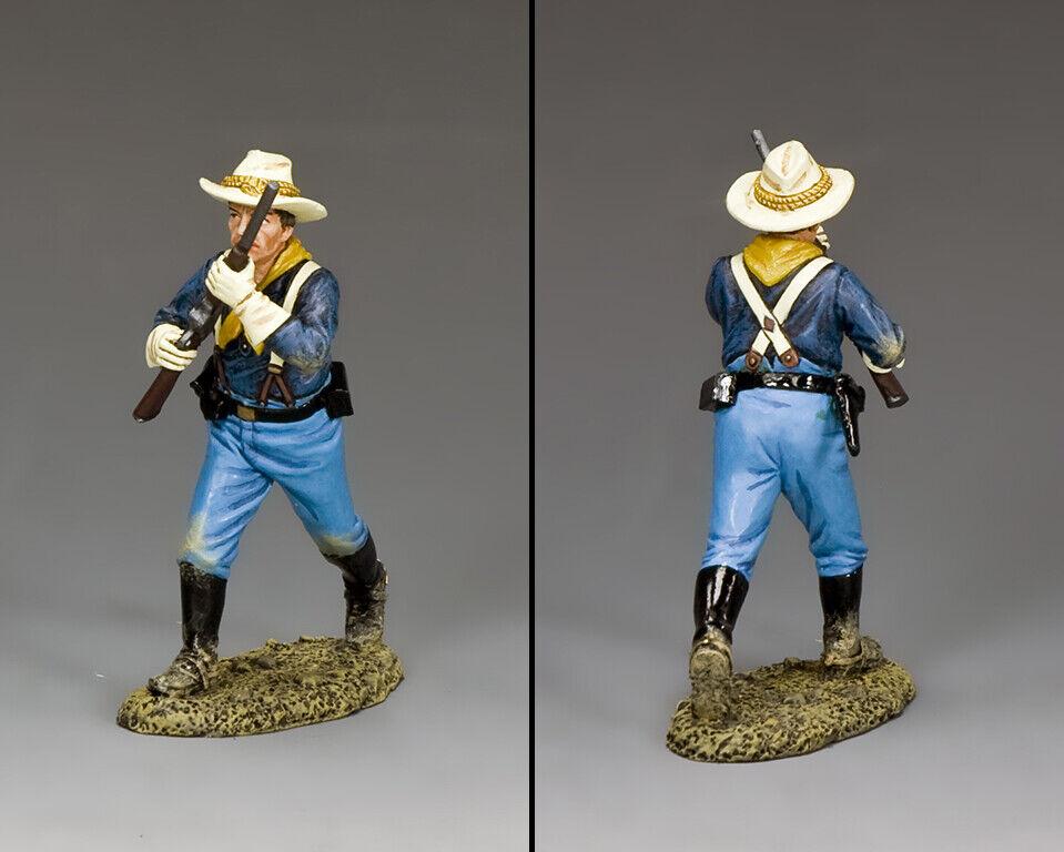 KING & COUNTRY JOHN FORD'S CAVALRY KX037 U.S. CAVALRY TROOPER ADVANCING MIB
