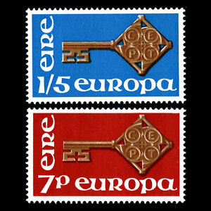 Ireland-1968-Europa-Golden-Key-with-CEPT-Emblem-Sc-242-3-MNH