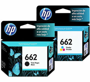 2-Pack-HP-662-Ink-Cartridge-Black-TRI-COLOR-Original-CZ104AL-CZ103A-Combo