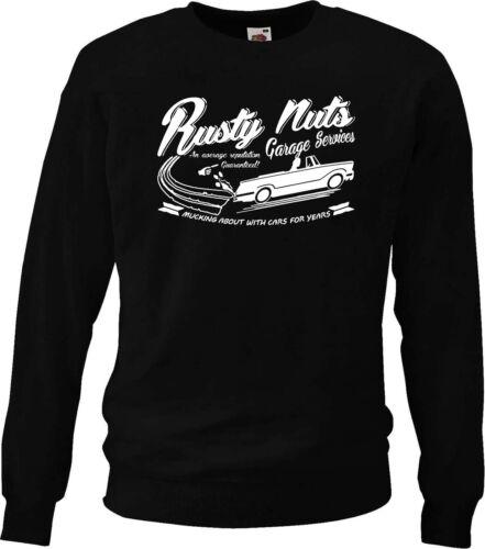 /'Rusty Nuts Garage Services/' sweatshirt Triumph Herald Convertible
