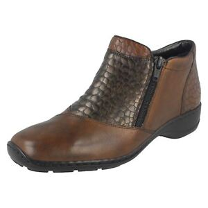 Brown Ladies Rieker Ankle Boots 58359 pw80nRqA6