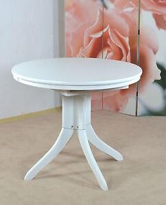 auszugtisch rund wei massiv esszimmertisch tisch k chentisch esszimmer k che. Black Bedroom Furniture Sets. Home Design Ideas