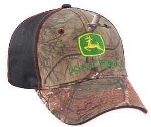ed1631bce24 NEW John Deere Realtree Xtra Camo Cap Hat Gray Back Orange Stitching ...