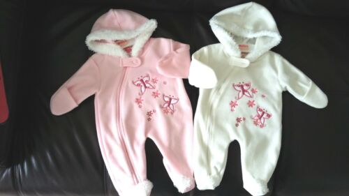 Baby Girl Butterfly Hood all in one Playsuit Babygro outfit Prem Tiny Reborn NB