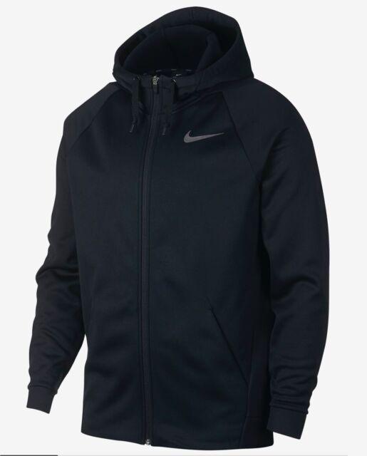 NWT Men's Nike Zip Up Therma Dri Fit Training Hoodie Jacket AJ4450 010 Size XL