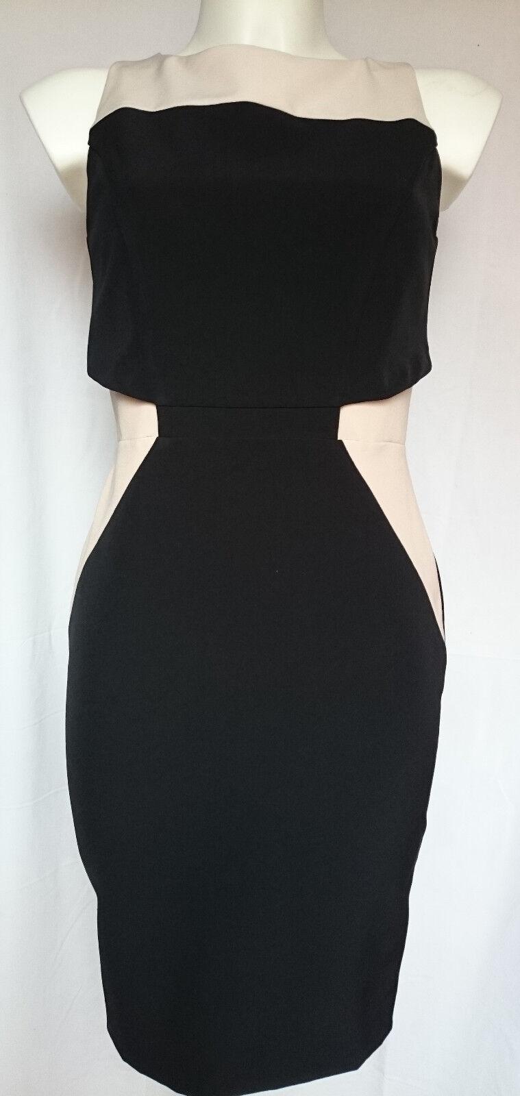 ABITO damen Aviù schwarz cipria Woherren Dress tg 42 Made in