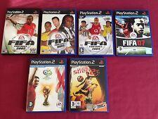 Ps2 Games Bundle. Fifa 02,03,04,07, Fifa Street 2, 2006 Fifa World Cup.