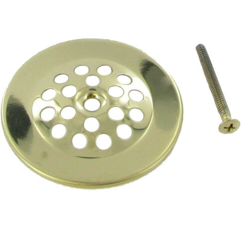 PP5064PB Plumb Pak Drain Strainer Dome Cover with Screw Polished Brass