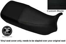 BLACK VINYL CUSTOM FITS HONDA XL 600 V TRANSALP DUAL SEAT COVER ONLY