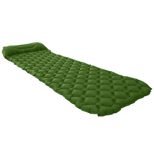 Inflatable Camping Mattress Air Mat Sleeping Pad Hiking Roll Up Bed Mat Pillow