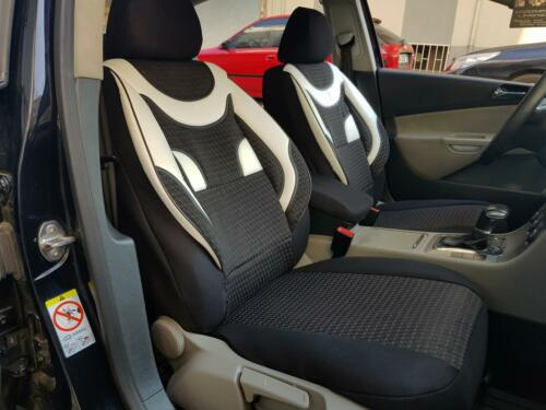 Fundas para asientos ya referencias para seat Ateca negra-blanca no2062963 set