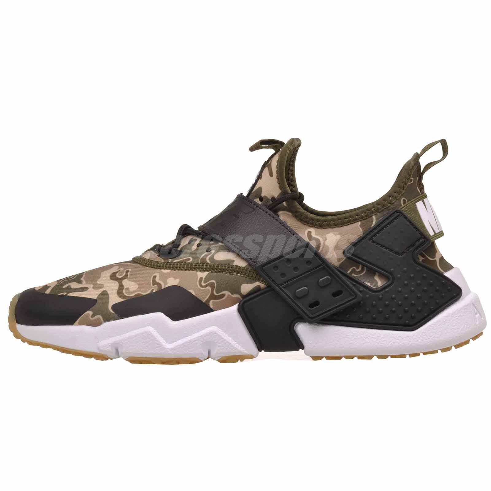 Nike Huarache Drift PRM Hombre Para Correr Air Zapatos Oliva Lona AH7335-301