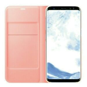 NEW-Rose-Pink-Slim-Flip-Case-Wallet-Leather-PU-Book-Cover-for-All-Samsung-Galaxy