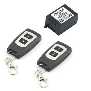 DC12V1CH-DC-12V-1-Channel-433MhzRF-Wireless-Relay-Remote-Control-Momentary-Light