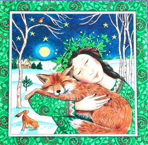 Wendy-Andrew-Yule-Christmas-Card-Animal-hug-fox-hare-pagan-wife-daughter