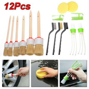 Car-12Pcs-Detailing-Brush-Kit-Boar-Hair-Auto-Interior-Wheel-Cleaning-Tool-Useful