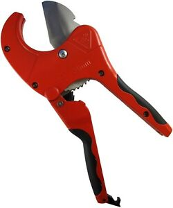 Superior-Tool-37116-Ratcheting-PVC-Pipe-Cutter-Red