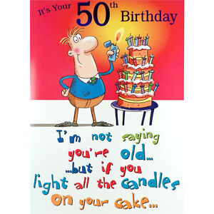 50th birthday card funny rude humorous male happy greetings card ebay