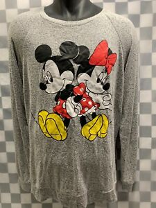 Mickey-amp-Minnie-Mouse-DISNEY-Soft-Long-Sleeve-T-Shirt-Size-L