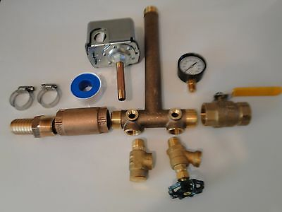 POLY ADAPTER SQUARE D M4 30 50 BRASS 1 x 11 PRESSURE TANK TEE KIT VALVES