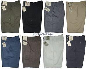Pantalone-corto-uomo-M-L-XL-XXL-3XL-Bermuda-tasconi-SEA-BARRIER-cotone-leggero