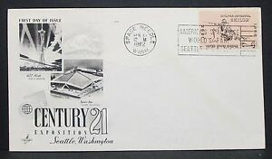 US-World-039-s-Fair-Artcraft-Cachet-Cover-FDC-Seattle-Space-Needle-USA-Letter-Y-306