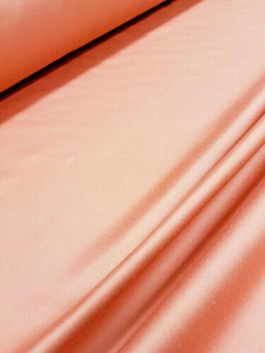 Satén de Algodón Rosa Salmón fuerte Tela De Tapicería Cortina por Metro 141cm W