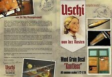 Uschi 1/72, 1/48 & 1/32 scale Knotless Woodgrain decals for Wingnut Wings #1004