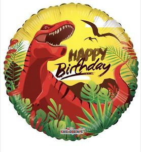 Image Is Loading Happy Birthday T Rex Dinosaur 18 034 Balloon
