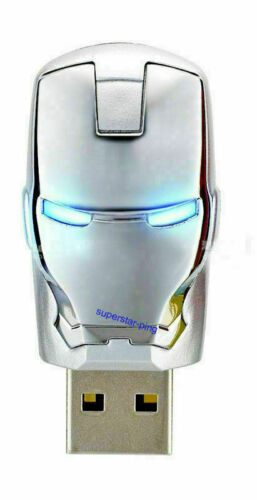 32GB USB 2.0 Avengers Iron Man Flash Drive Pen Drive Flash Memory 4GB lot SE