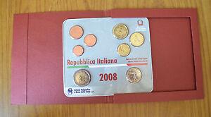 Série Officiel Complète Italiana 8 Monnaies Ipzs