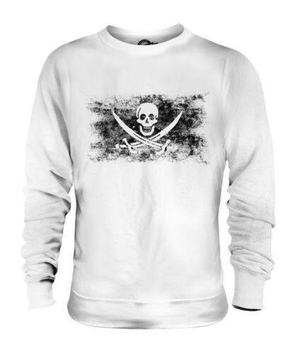 Pirate Drapeau Délavé Unisexe Pull Crâne Cadeau Tête de Mort Vêtements Chemise