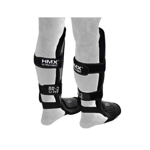 HMX SHIN INSTEP PADS LEG FOOT GUARDS PROTECTOR MUAY THAI KICK BOXING KARATE S//M