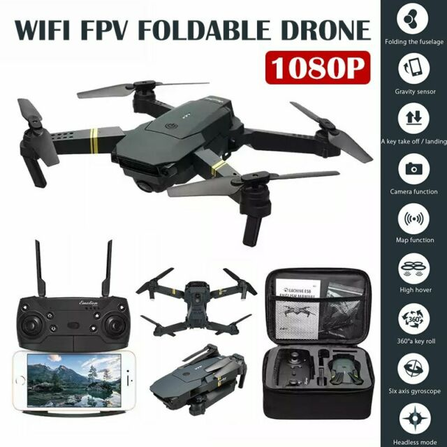 with 1080p HD Wide Angle WiFi Camera Gravity Sense Return Key RC Quadcopter for All People Dual Batteries White Live Video Headless Mode FPV RC Drones