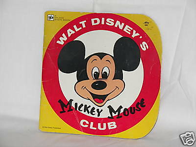 1978 MICKEY MOUSE CLUB SOFT COVER GOLDEN SHAPE BOOK
