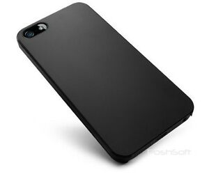best sneakers ecd8a b3e24 Details about Black Ultra-Thin Matte Rubberized Slim Hard Cover Case for  Apple iPhone 5S + SE