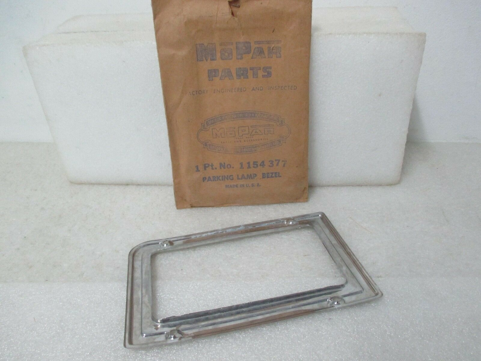 Mopar NOS 1946-48 Dodge Left Hand Front Park /& Turn Signal Lamp Bezel 1154377