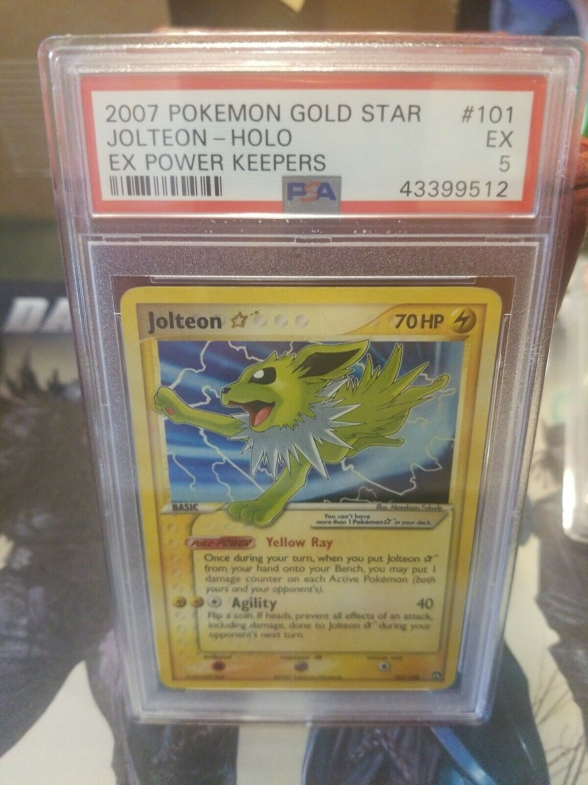 Pokemon Jolteon gold Star - PSA 5 MINT - EX Power Keepers Holo 101 108