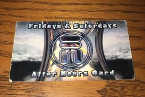 Details About Tunnel Night Club Nyc After Hours Card Fri Sat 90 S Clubbing Rave